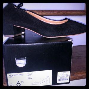 Jcrew Anya Suede Block Heels Size 6.5